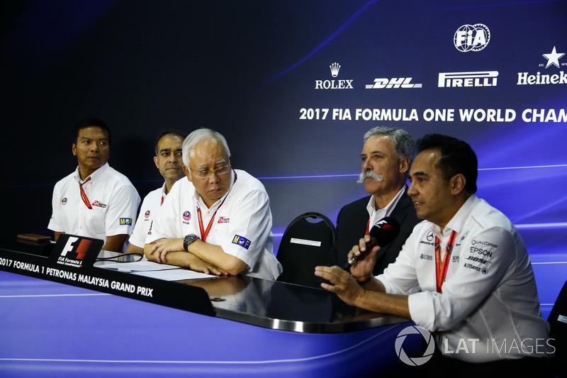 Керівник Ф1 Чейз Кері, президент Малайзії