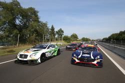 GT3 cars on the Budapest streets