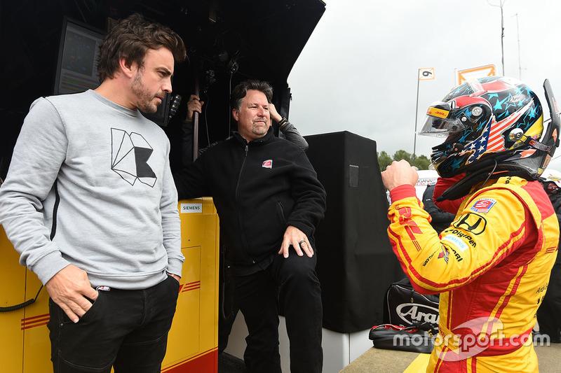 Fernando Alonso, Michael Andretti, Ryan Hunter-Reay, Andretti Autosport Honda