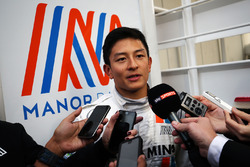 Rio Haryanto, Manor Racing with the media