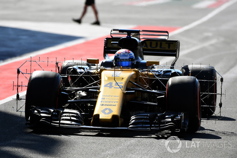 Nicholas Latifi, Renault Sport F1 Team RS17, Aerodynamik-Sensoren