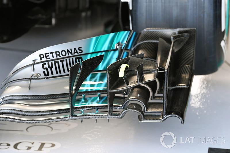 Mercedes-Benz F1 W08 detail voorvleugel