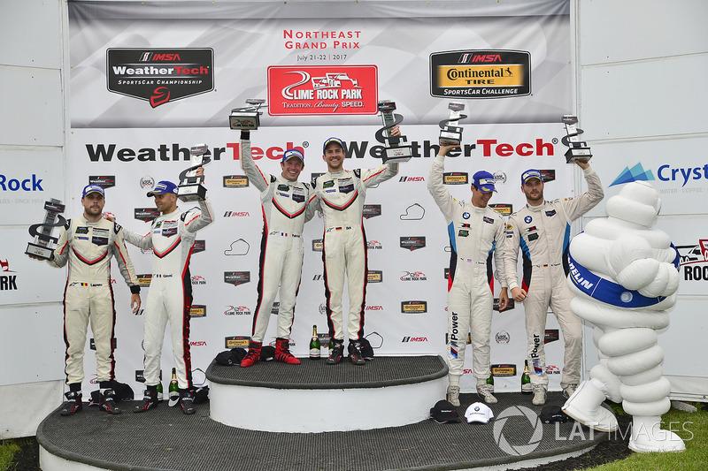 GTLM Podio: ganadores carrera Patrick Pilet, Dirk Werner, Porsche Team, segundo lugar Gianmaria Brun