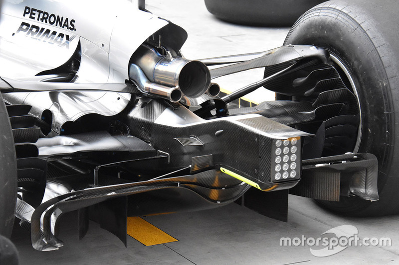 Mercedes AMG F1 W08 detalle trasero