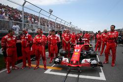 The car of Sebastian Vettel, Ferrari SF70H