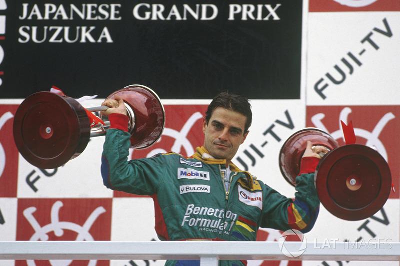1989: 1. Alessandro Nannini, 2. Riccardo Patrese, 3. Thierry Boutsen