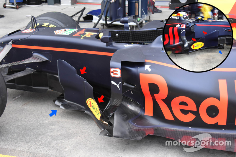 Red Bull Racing RB13, detalle lateral