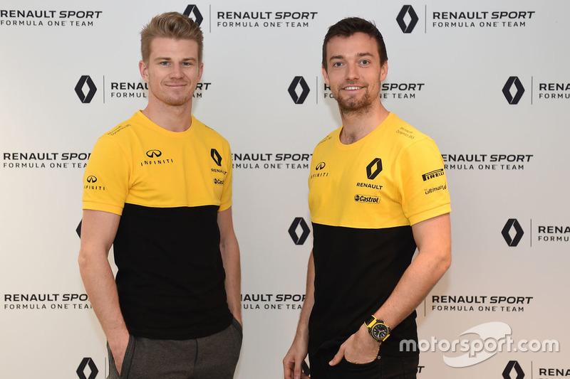Nico Hülkenberg, Renault Sport F1 Team; Jolyon Palmer, Renault Sport F1 Team