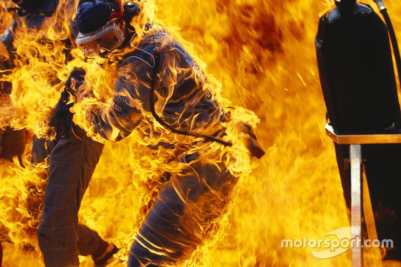 Пожежа у боксах Benetton під час піт-стопа Йоса Ферстаппена, Гран Прі Німеччини