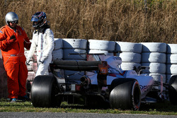 Лэнс Стролл, Williams FW40, авария
