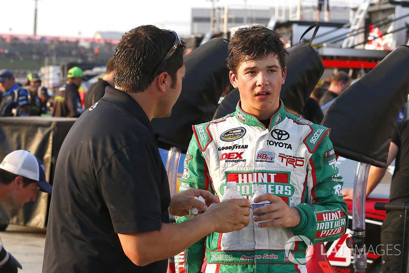 Harrison Burton, Kyle Busch Motorsports Toyota, mit David Stremme