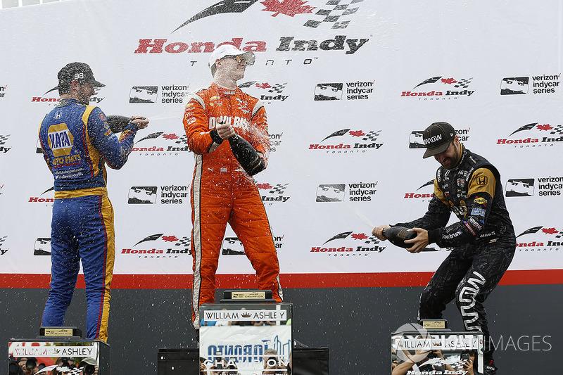 Podium: 1.Josef Newgarden, Team Penske; 2. Alexander Rossi, Herta - Andretti Autosport; 3. James Hinchcliffe, Schmidt Peterson Motorsports