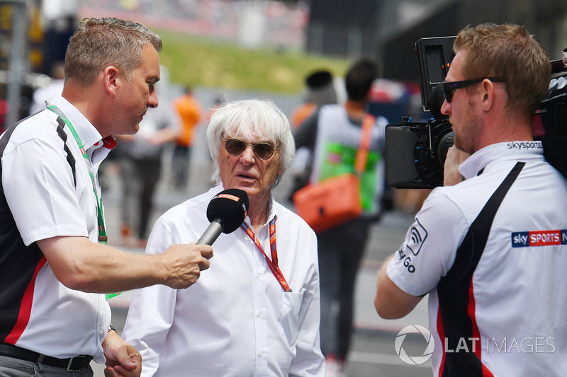 Bernie Ecclestone mit Craig Slater, Sky Sports F1