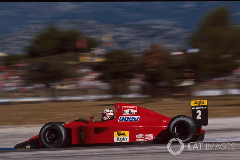 9º Nigel Mansell, Ferrari 641, Le Castellet 1990. Tiempo: 1:04.402