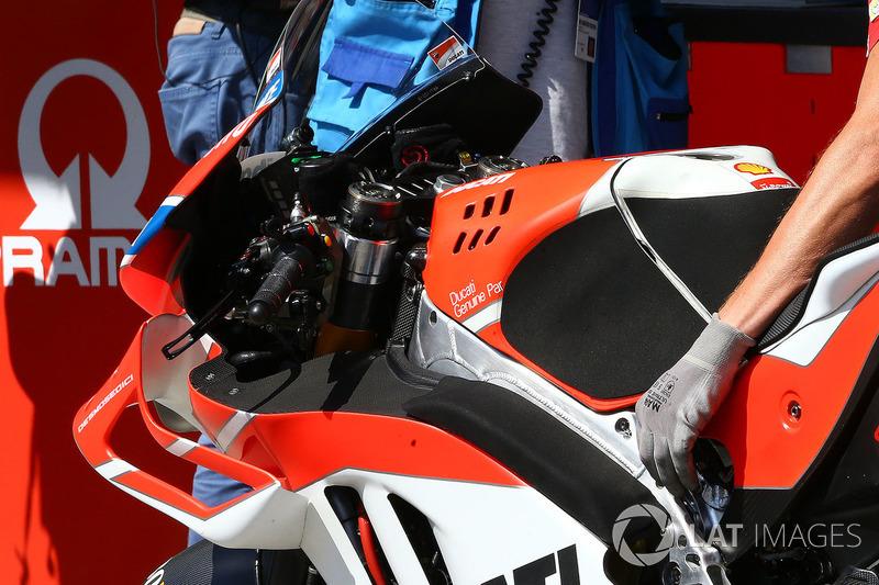 Аеродинамічний обтічник на мотоциклі Хорхе Лоренсо, Ducati Team