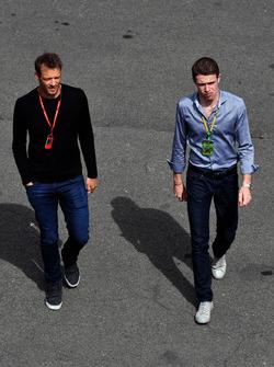 Alex Wurz, Williams Driver Coach and Paul di Resta, Sky TV
