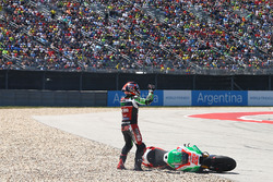 Sam Lowes, Aprilia Racing Team Gresini, crash