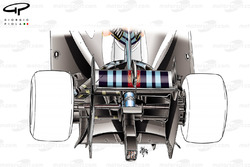 Williams FW36 rear end detail, focus on lower support winglet