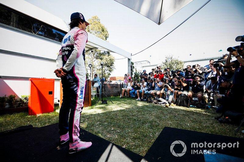 Lance Stroll, Racing Point during Official Portrait