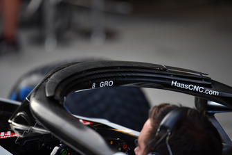 Haas F1 Team VF-18 halo detail
