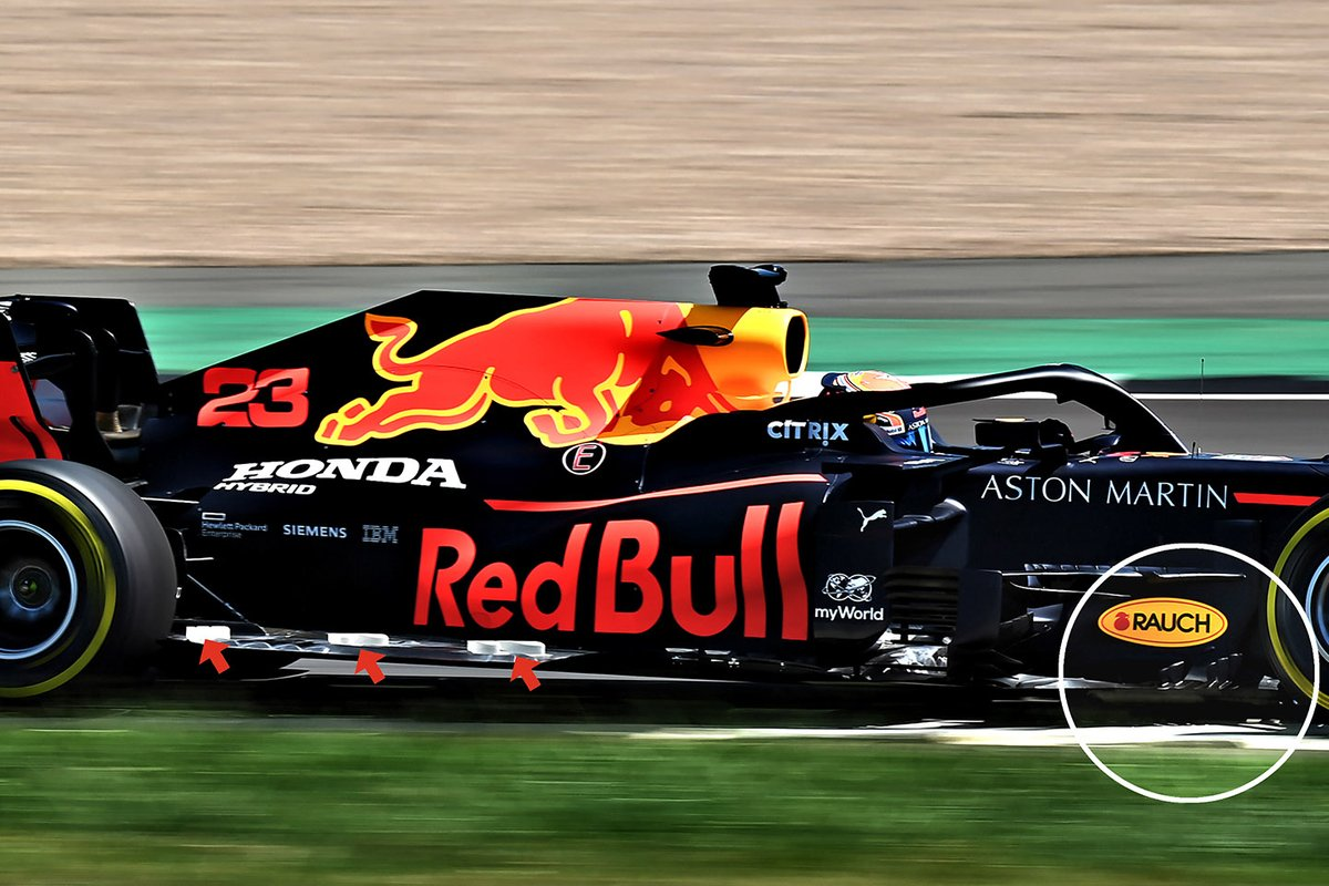 Red Bull Racing RB16 floor detail