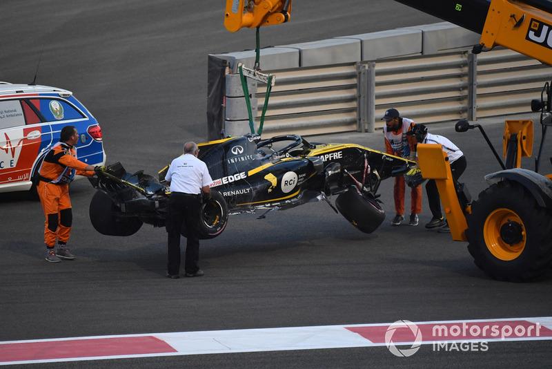 El coche chocado de Nico Hulkenberg, Renault Sport F1 Team R.S. 18