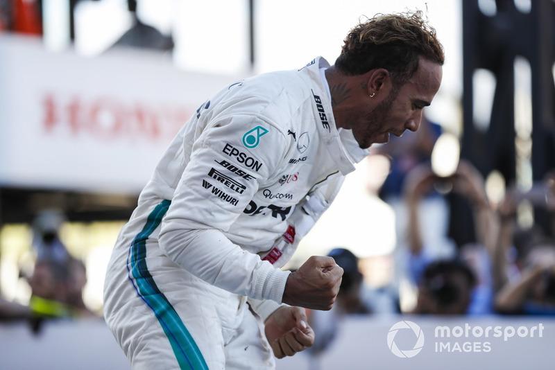 Lewis Hamilton, Mercedes AMG F1 celebra su victoria