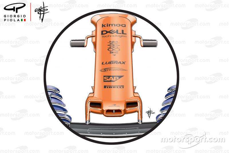 El morro del McLaren MCL33 en el GP de Estados Unidos