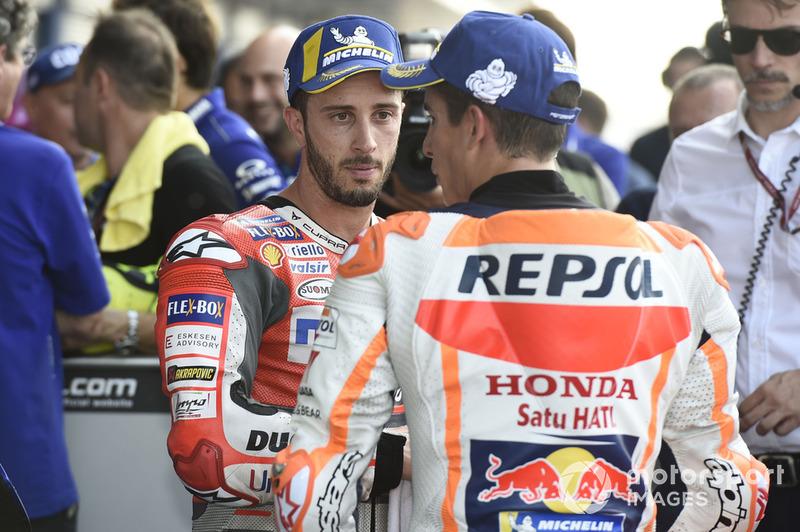 Володар поул-позиції Марк Маркес, Repsol Honda Team, третє місце Андреа Довіціозо, Ducati Team
