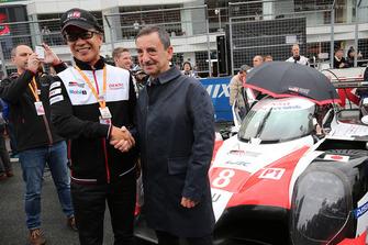 Pierre Fillon, Presidente de la ACO, Shigeki Tomoyama, Presidente Gazoo Racing