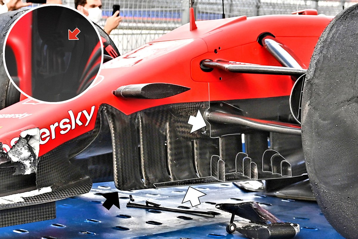 Ferrari SF1000 turning vanes detail