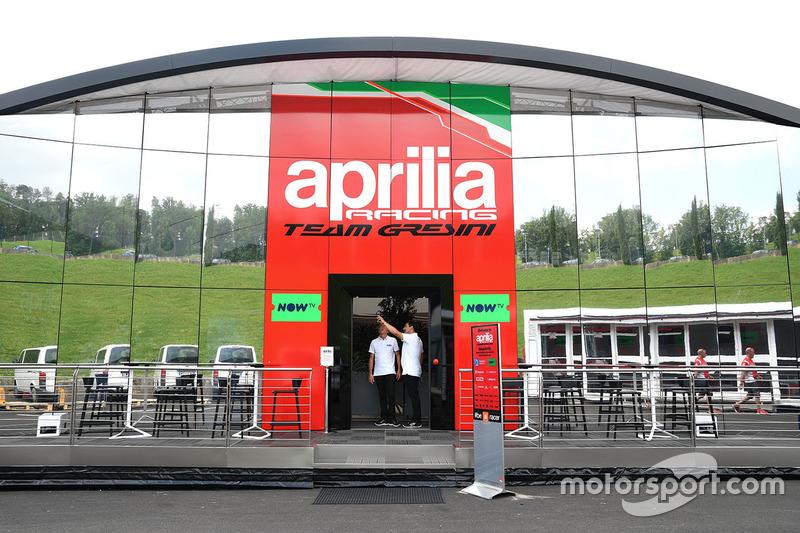 Aprilia Racing Team Gresini motorhome