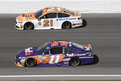 Ryan Blaney, Wood Brothers Racing Ford, Denny Hamlin, Joe Gibbs Racing Toyota