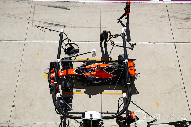 DNF. Fernando Alonso, McLaren