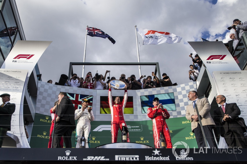GP de Australia: 1º Vettel, 2º Hamilton, 3º Raikkonen