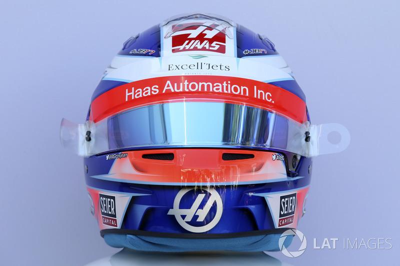 Casco de Romain Grosjean, Haas F1