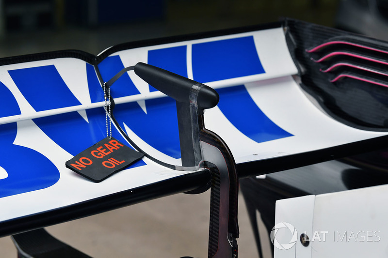 Force India VJM11 rear wing detail