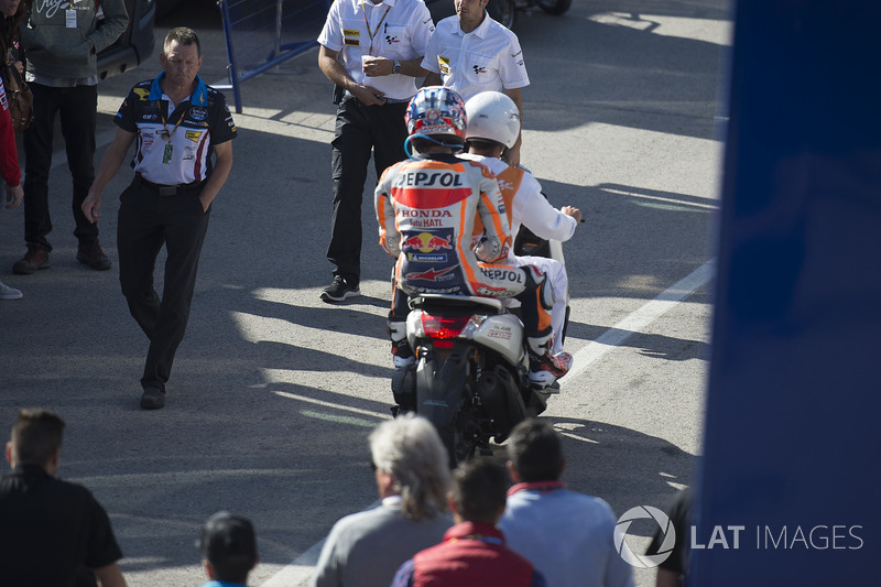 Dani Pedrosa, Repsol Honda Team, after crash