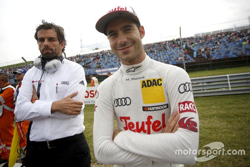 Miguel Molina, Audi Sport Team Abt Sportsline, Audi RS 5 DTM, mit seinem Renningenieur