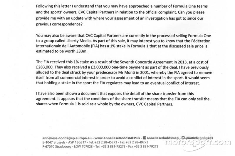 Anneliese Dodds carta a la Comisaria Europea de competencia - parte 2