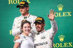 Victoria Vowles and Lewis Hamilton, Mercedes AMG F1 W07
