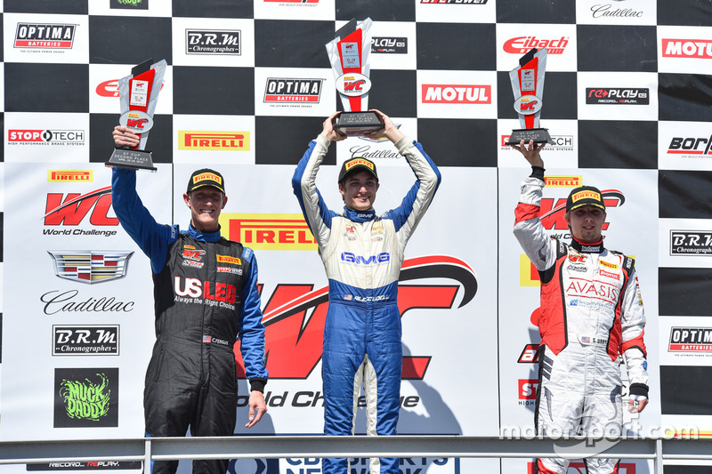 Podium GT-Cup: 1. Aled Udell, Global Motorsports Group; 2. Corey Fergus, Motorsports Promotions; 3.