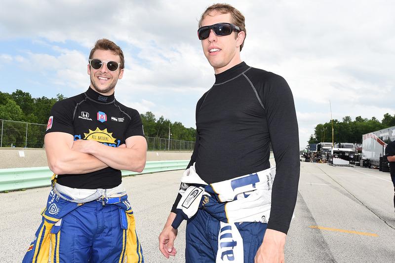 Brad Keselowski, Team Penske y Marco Andretti, Andretti Autosport Honda