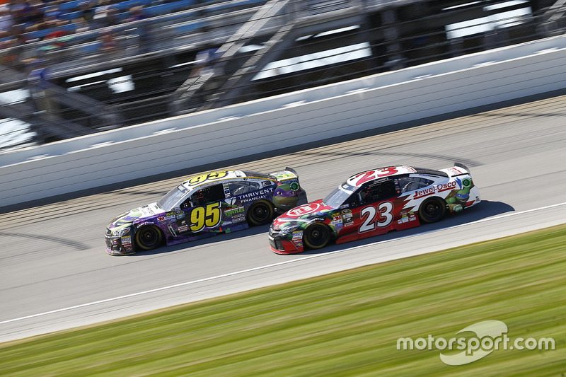 Michael McDowell, Circle Sport Leavine Family Racing Chevrolet, David Ragan, BK Racing Toyota