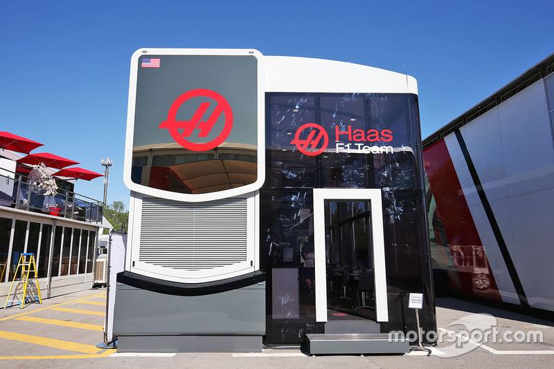 Haas F1 Team motorhome