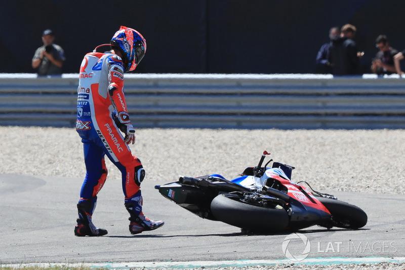 Даніло Петруччі, Pramac Racing, після аварії