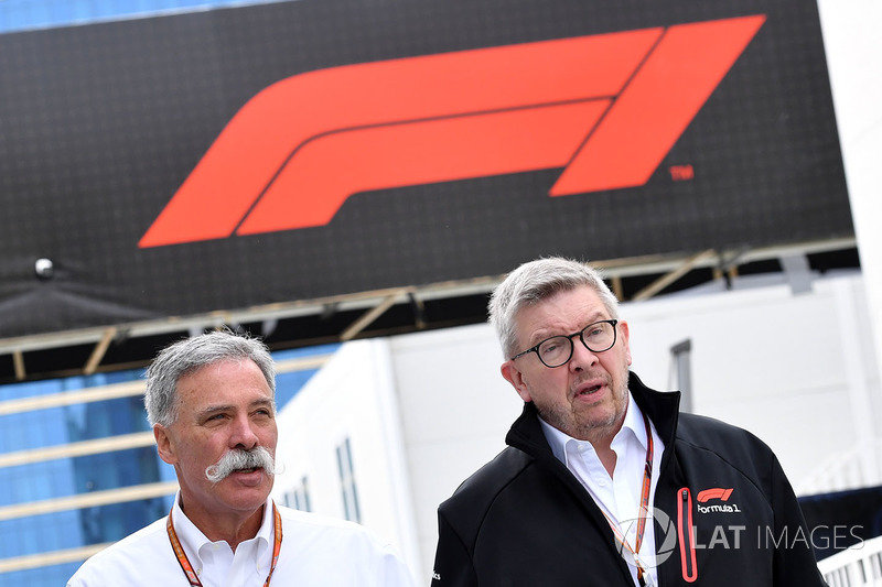 Chase Carey, CEO Formula One Group, Ross Brawn, Direktur Motorsport Formula One