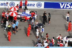 Nick Heidfeld, Mahindra Racing, sur la grille