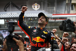 Daniel Ricciardo, Red Bull Racing, celebrates victory