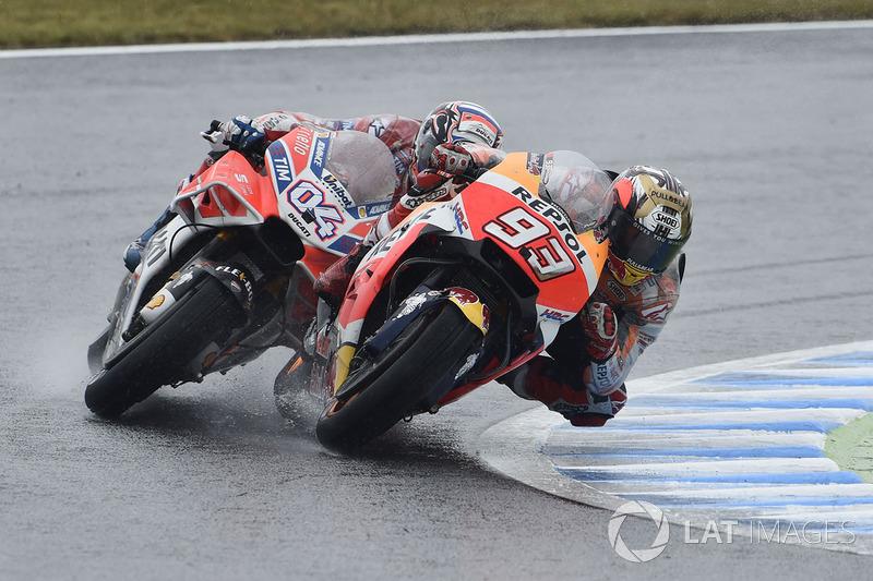 """""""Ele recuperou muito, e aí na reta oposta eu sabia que a Ducati seria um pouco mais rápida. Mesmo na freada, a Ducati foi mais eficaz. Ok, nesse circuito eu já esperava que ele seria muito forte, mas agora nós vamos para Phillip Island que talvez possa ser"""
